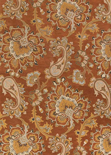 Rug Source New Oushak All-Over Floral Hand-Tufted 9x12 Orange Wool Oriental Area Rug (90' 0