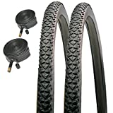 CST Raleigh T1506 Pioneer 700 x 38c Hybrid Road Bike Tires with Schrader Tubes (Pair)