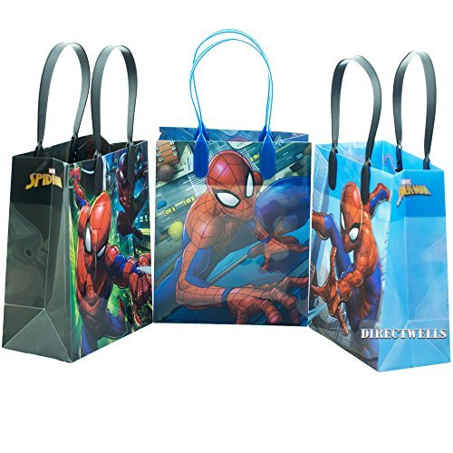 Spiderman Webbed Wonder 12 Authentic Licensed Reusable Goodie Small Gift Bags ()