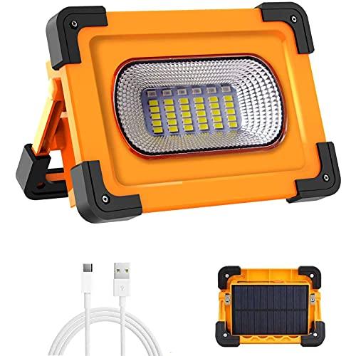 WOERD LED Baustrahler, Arbeitsstrahler Strahler Akku 60W, Arbeitsleuchte USB Wiederaufladbares, Wasserdicht Flutlicht…