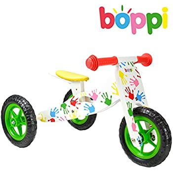 boppi 2 in 1- Wooden Trike and Balance Bike – 9-24 Months - Printed Hands