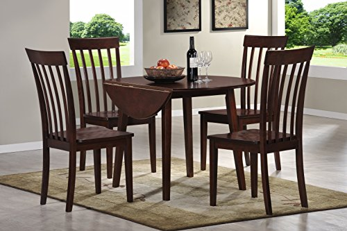 Holland House Pearington 5 Piece Drop Leaf Dining Set Cherry Finish