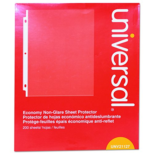 Universal Economy Sheet Protectors Economy Letter 200/Box, UNV-21127 (Universal Top Load)