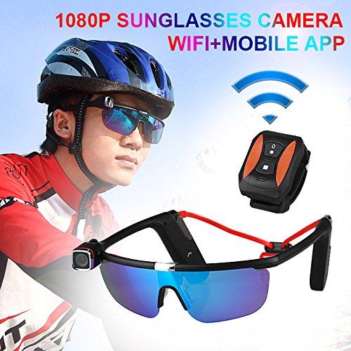 Canis Latran MP4/JPG 1080P Full HD Sport 2.4G RF Remote Comtroller Sunglass Camera Sport - Sunglasses Mp4