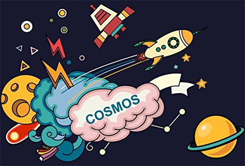 CSFOTO 7x5ft Background For Cosmos Rocket Planet Photography Backdrop Cartoon Space Speed Sky Astronaut Astronomy Explore