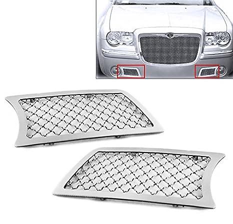 zmautoparts Chrysler 3 C parachoques delantero luz de niebla parrilla de malla de acero inoxidable cromado: Amazon.es: Coche y moto