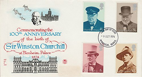 Postage Stamps Commemorating The 100th Anniversary of The Birth of Sir Winston Churchill at Blenheim Palace 1874 FDC (Churchill Commemorative Coin)