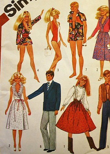 Simplicity 5807 Sewing Pattern, Wardrobe for 11 1/2