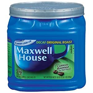 Maxwell House Decaf Coffee Canister, 33 oz