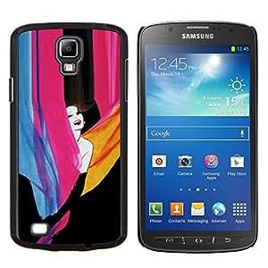KLONGSHOP // Cubierta de piel con cierre a presión Shell trasero duro de goma Protección Caso - niña feliz - Samsung Galaxy S4 Active i9295 //