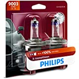 Philips 9003 X-tremeVision Upgrade Headlight Bulb with up to 100% More Vision, 2 Pack