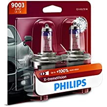 Philips 9003 X-tremeVision Upgrade Headlight Bulb, 2 Pack