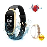 Fitness Tracker - SAVFY Activity Tracker with Heart Rate Monitor - Women Fashion Sports Tracker Sleep Monitor Waterproof Smart Bracelet