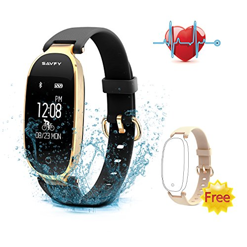 Fitness Tracker, SAVFY Activity Tracker with Heart Rate Monitor, Women Fashion Sports...