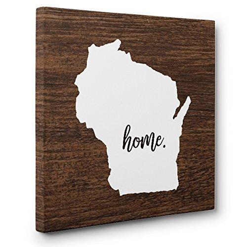 (Wisconsin Home CANVAS Wall Art Home Décor)