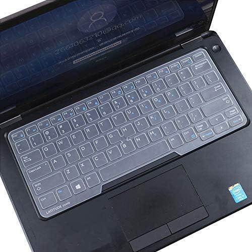 Dell Latitude - Funda para teclado Dell Latitude E7450 E7470 E5470 E7480 E5450 E5491 5480 5490 7490, Dell 3340 E3340 - Protector de teclado para ordenador portátil, transparente (diseño de EE. UU., con apuntador) 9