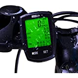 Bicycle Speedometer Wireless Cycling Computer with Cadence Bike Computer Odometer Speedometer Calories Counter, User A/B, Backlight, IPX6 Water Resistant etc 32 Functions for Biking Accessories