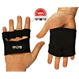 The Ninja Workout Glove, WOD, Callus Guard Workout Gloves, Weightlifting & Cross Training Workouts, Neoprene Smooth Palm, Easy On and Off, Quick Transition, Multifunctional, Black