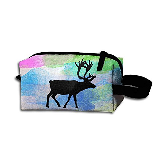 You Got A Deer Portable Printed Portable Travel Makeup Bag Makeup Case Mini Makeup Train Case Wyoming Mule