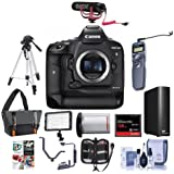 Canon EOS-1DX Mark II Digital SLR Camera - Bundle with 128GB Compact Flash Card, Camera Bag, LP-E19 Battery, Remote Shutter Trigger, 4TB External Hard Drive, Tripod, Software Package and More