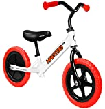 HAPTOO Balance Bike, Kid Glide Bike 12 inch [Ages 1.5 to 6 Years] No Pedal [Adjustable Handlebars and Seat] Lightweight Walking Training Bicycle for Girls Boys Toddler