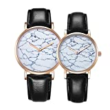 Watch Women 6812 Round Dial Alloy Gold Case Fashion Couple Watch Men & Women Lover Quartz Watches With PU Leather Band (SKU : Wa0722b)
