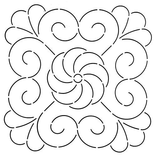 Golden Threads Whirl Square Quilt Stencil