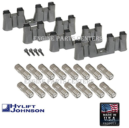 HYLIFT Johnson USA-Made Roller Lifters & TRAYS & BOLTS for Chevy 5.3 5.7 6.0 NON-AFM LS1 LS2 LS3 LS7 (Lifters & Trays) ()