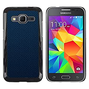 Paccase / SLIM PC / Aliminium Casa Carcasa Funda Case Cover - Texture Blue - Samsung Galaxy Core Prime SM-G360