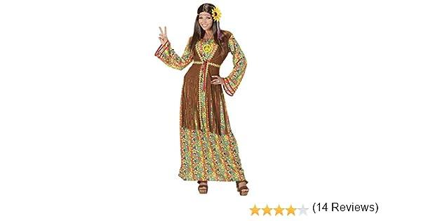 WIDMANN Disfraz de hippie para Mujer, Multicolor, X-Large: Amazon ...