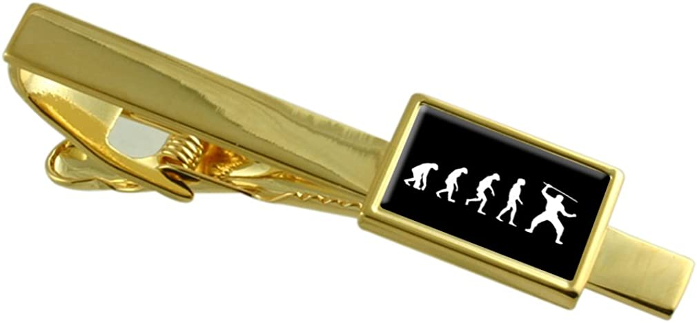 Select Gifts Evolution Ape to Man Ninja Gold-Tone Tie Clip Pouch