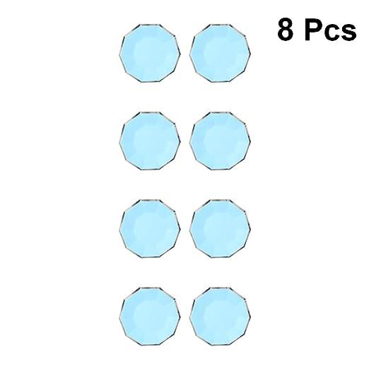 UPKOCH 8 platos de papel desechables con borde bronceador ...