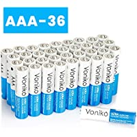 Voniko 36-Pack 1.5 Volt Ultra Alkaline AAA Batteries