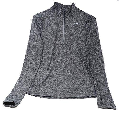 Nike Women's Element Half Zip - Dark Grey Silver - X-Small
