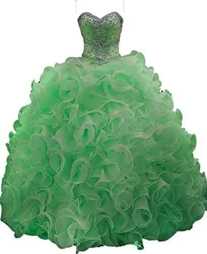 5dd1a5c9743 Siaoryne Crystal Sweetheart Ball Gown Quinceanera Dress Detachable Skirt