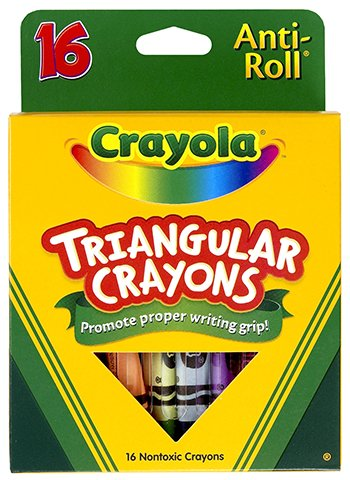 16 Pack CRAYOLA LLC FORMERLY BINNEY & SMITH CRAYOLA TRIANGULAR CRAYONS 16 COUNT from Crayola