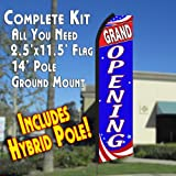 GRAND OPENING (Patriotic) Flutter Feather Banner Flag Kit (Flag, Pole, & Ground Mt) Review
