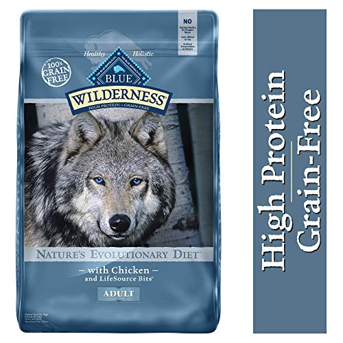 Blue Buffalo Wilderness High Protein Grain Free, Natural Adult Dry Dog Food, Chicken 24-lb (Brown Rice In Dog Food Good Or Bad)