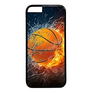"Basketball In Water And Fire Theme Case for iPhone 6 Plus (5.5"") PC Material Black in GUO Shop"