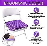 Gel Seat Cushion - Purple Enhanced Double Non-Slip