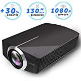 Vamvo Home Theater Movie Projector 2200lm Flux LED Source Video Projector Supported 1080P Portable Projector Compatible Fire TV Stick,HDMI/VGA/USB/SD Family Party 2018 New Version (Black)