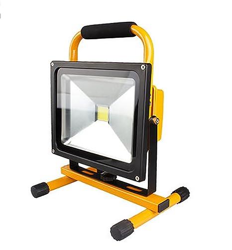 YONGYUE Foco LED Proyector Exterior, Lámpara Recargable Portátil ...