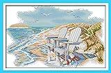 Astitch Stamped Cross Stitch Kits 11CT Cute Design Fabric A Quiet Beach