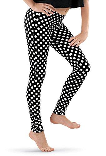 Balera Leggings Polka Dot Print Black/White Child Large