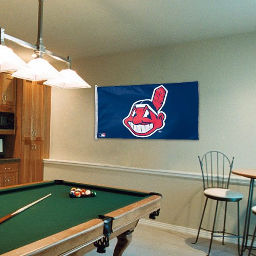 Display Indians Cleveland Baseball (Cleveland Indians 3 x 5 Flag)