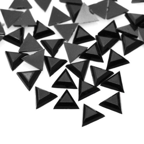 1000pcs Black Triangular 3x3x1 Flat Back Rhinestones Flatback acrylic Gems for Nail Art Cards wholesale AF0013-20