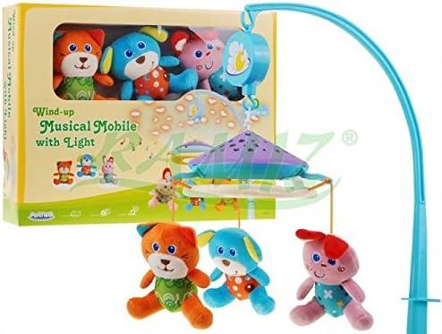 Cama Carrusel - Proyector con juguetes de peluche: Amazon.es ...