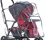 Joovy 901 Caboose Rain Cover Stand on Tandem Stroller, Clear