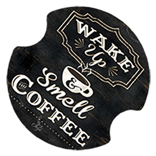 (Thirstystone Carster Wake Up and Smell The Coffee Coasters, Multicolor)