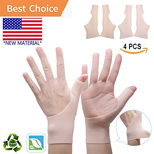 4 PCS Gel Wrist Support Braces, Carpal Tunnel Wrist Brace, Gel Wrist Splint Brace Great for Tenosynovitis, Typing, Wrist & Thumb Pain, Rheumatism, Arthritis & More. by Sumifun